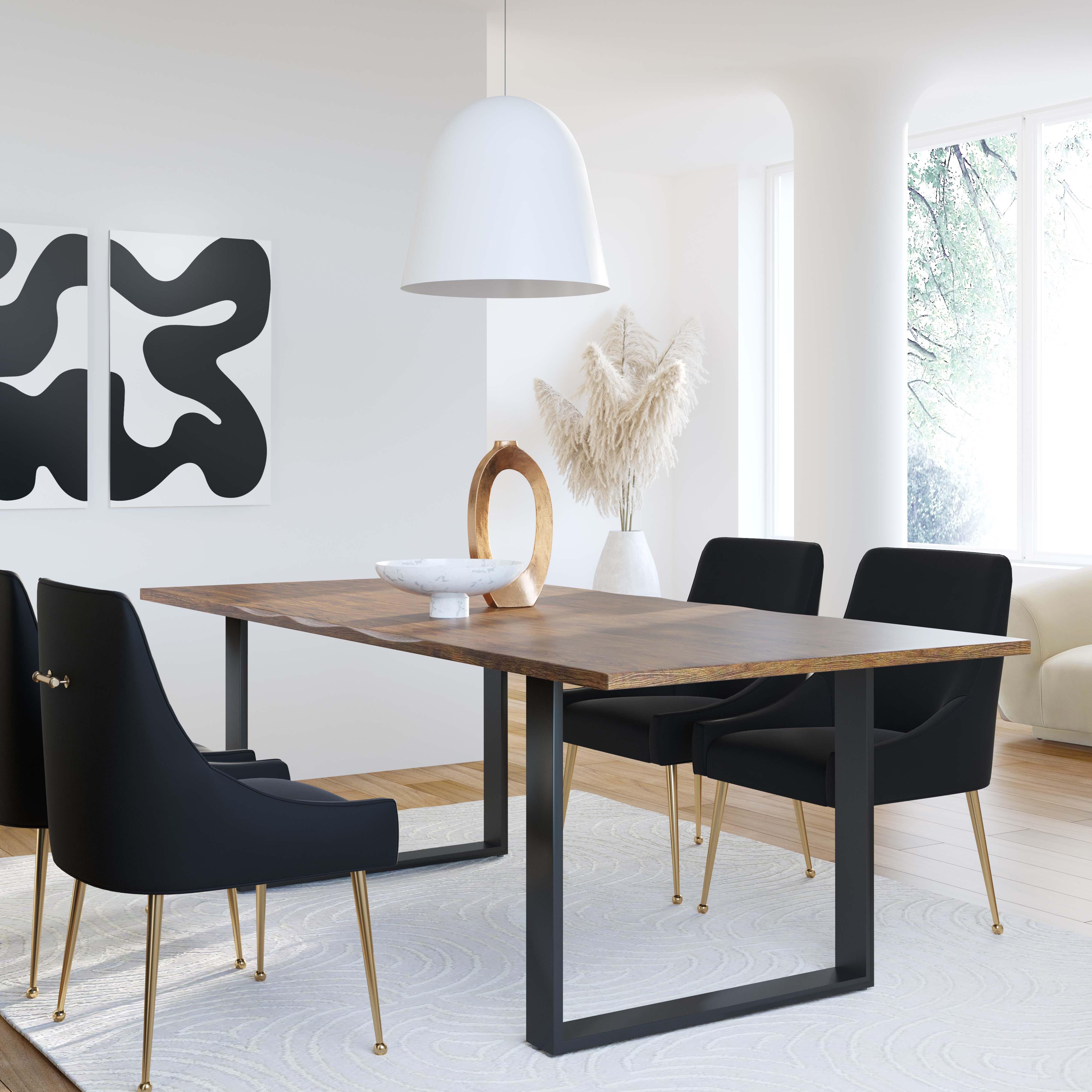 Beatrix Black Velvet Side Chair Tov Furniture