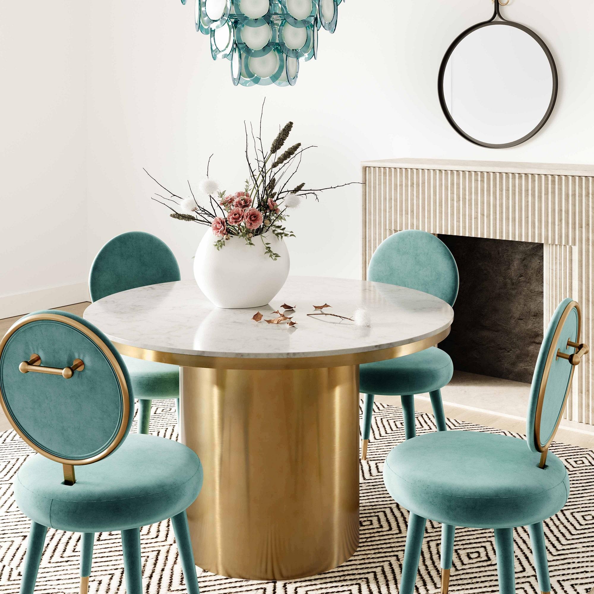 Alisin Marble Dining Table Tov Furniture