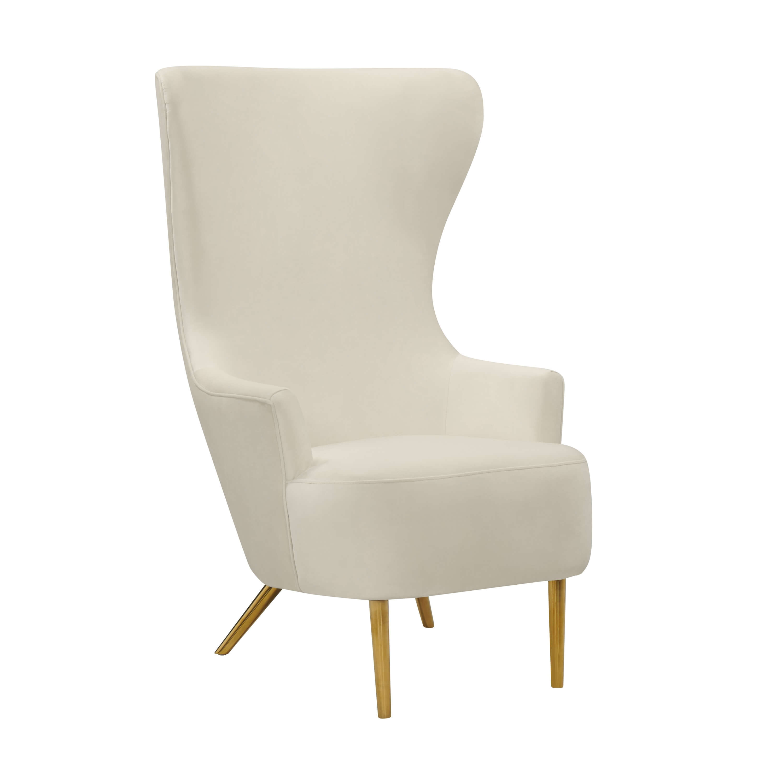 Julia Cream Velvet Wingback Chair By Inspire Me Home Decor Tov Furniture