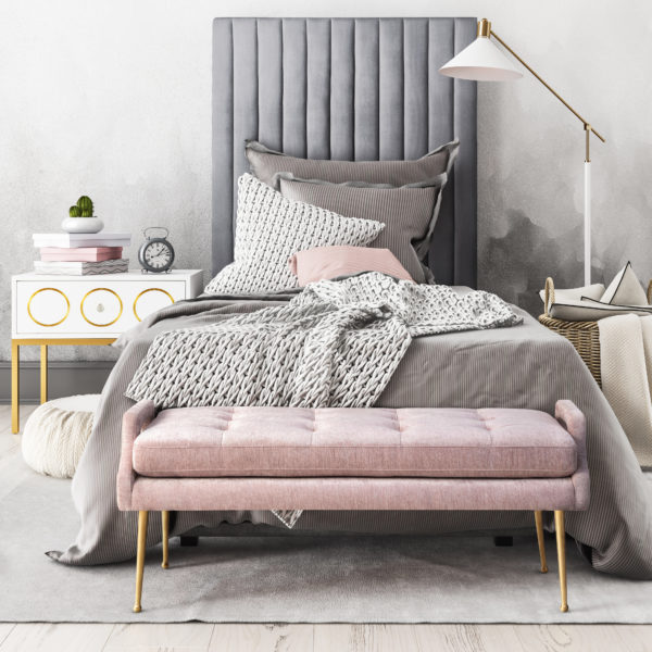 Arabelle Bed Ella ST Eileen Bench Pink