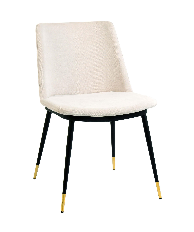 Picture of: Evora Cream Velvet Gold Legs Set Of 2 Tov Furniture