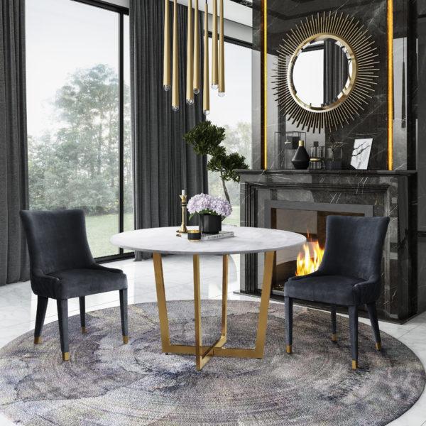 Maxim Table Diamond Chairs