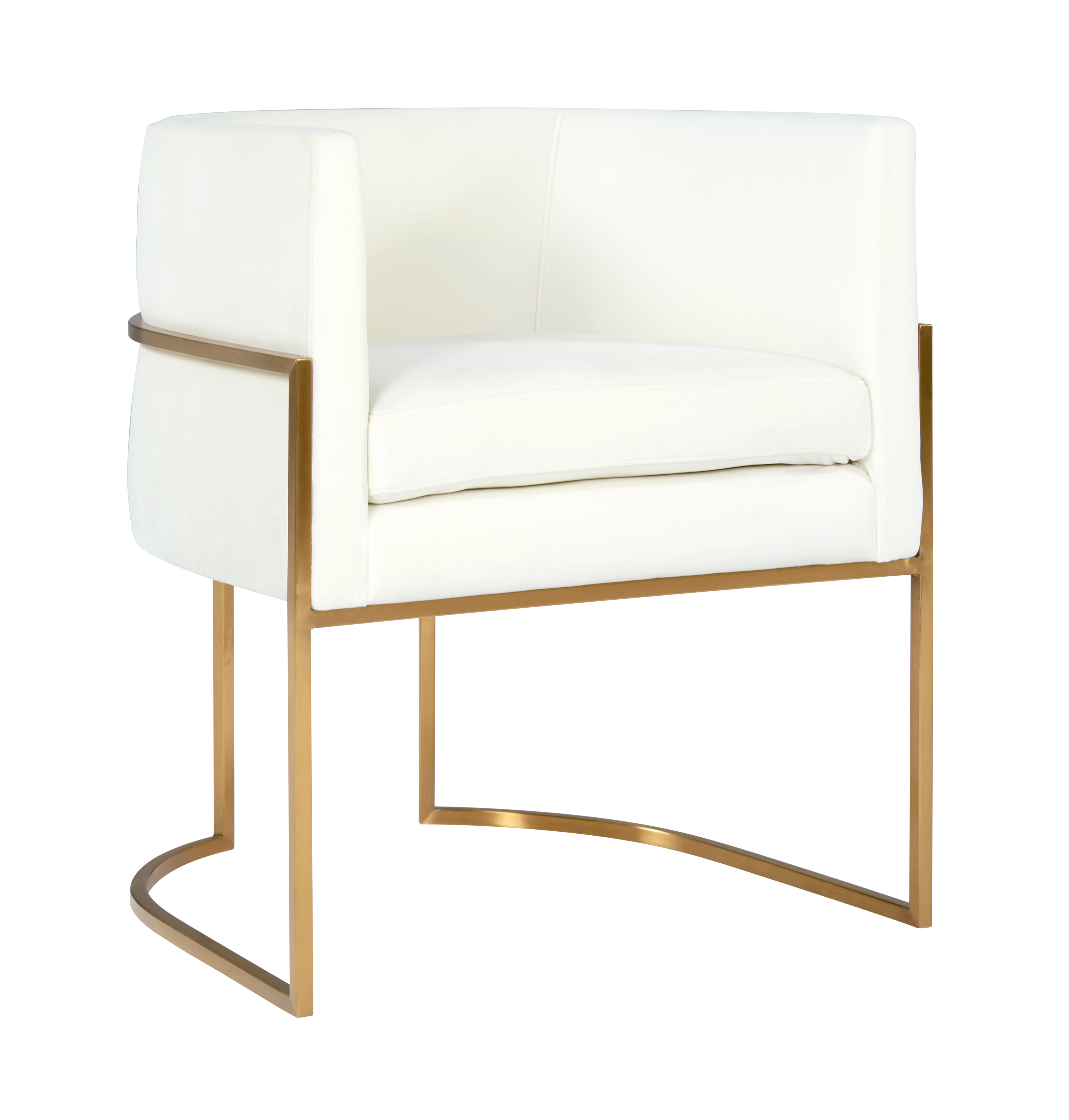 Picture of: Giselle Cream Velvet Dining Chair Gold Frame By Inspire Me Home Decor Tov Furniture