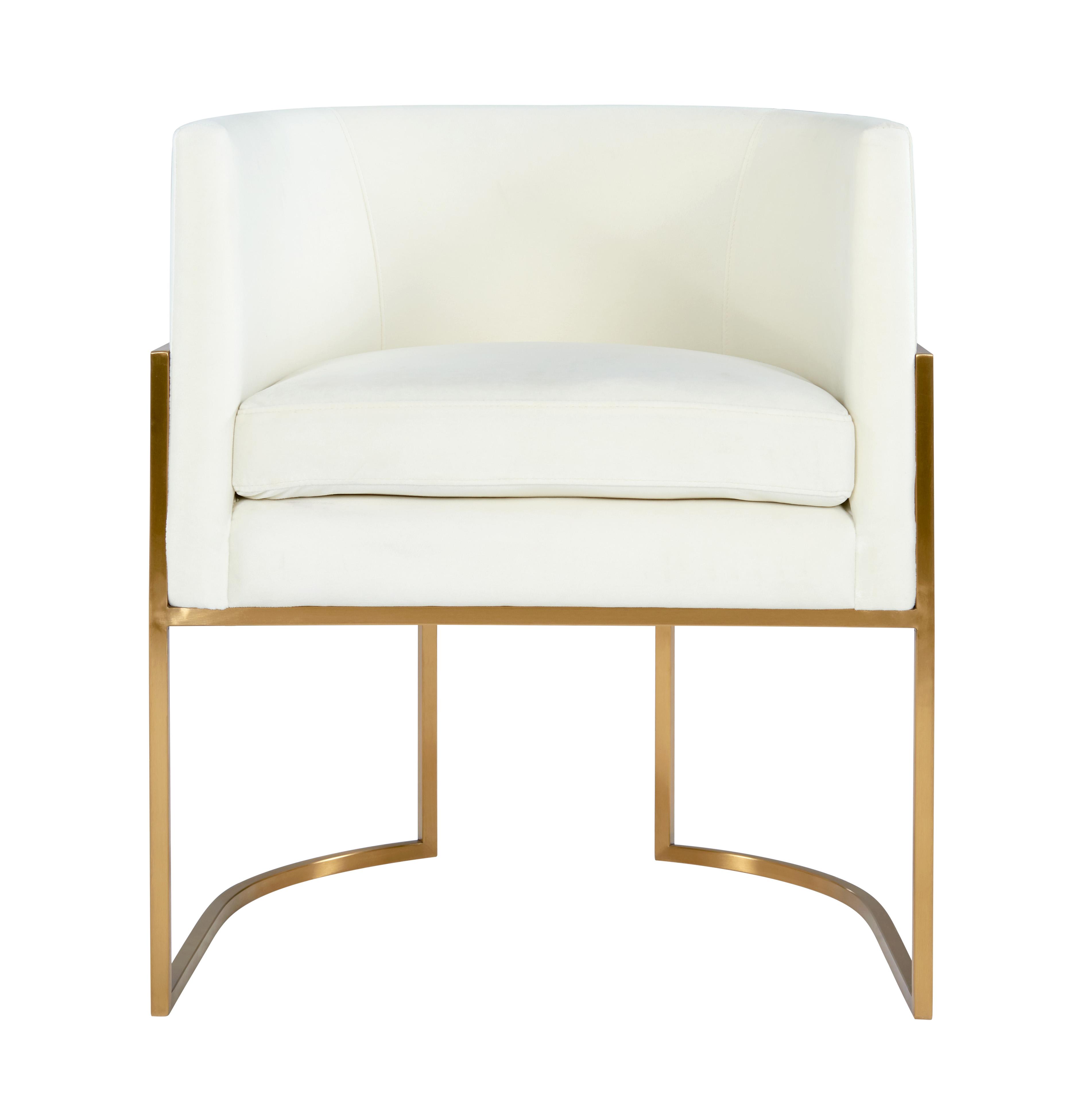 Giselle Cream Velvet Dining Chair Gold Frame By Inspire Me Home Decor Tov Furniture