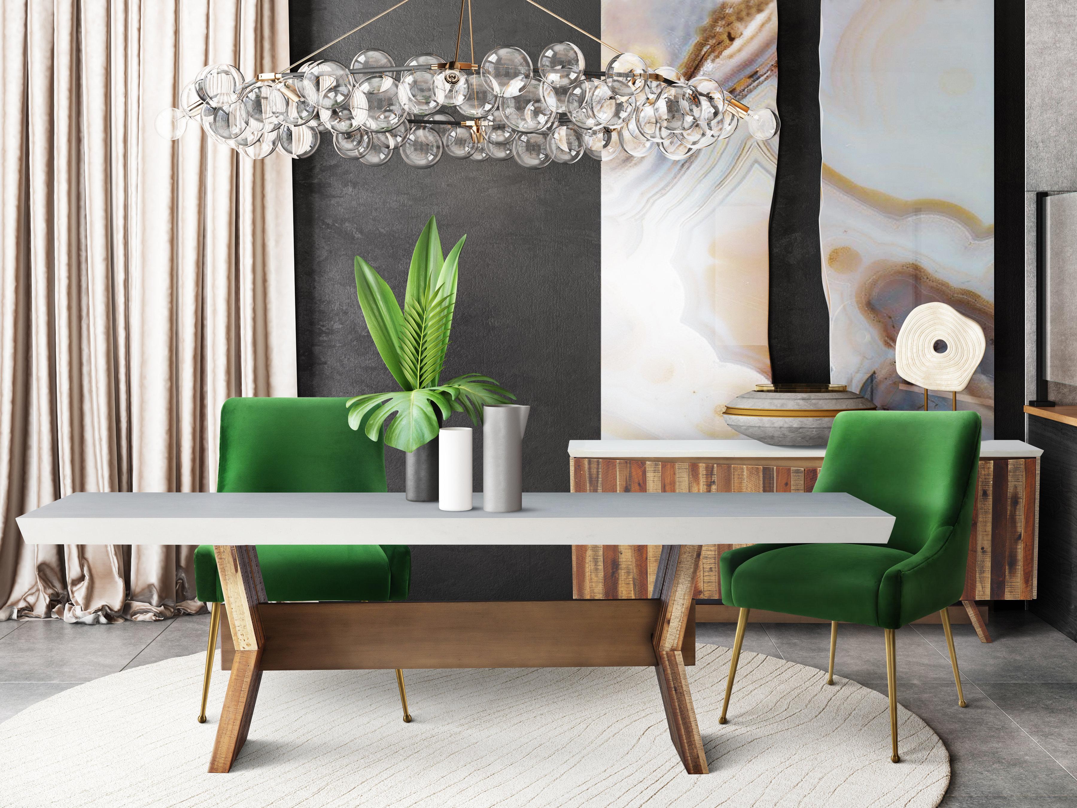 Astoria White Concrete Table Tov Furniture