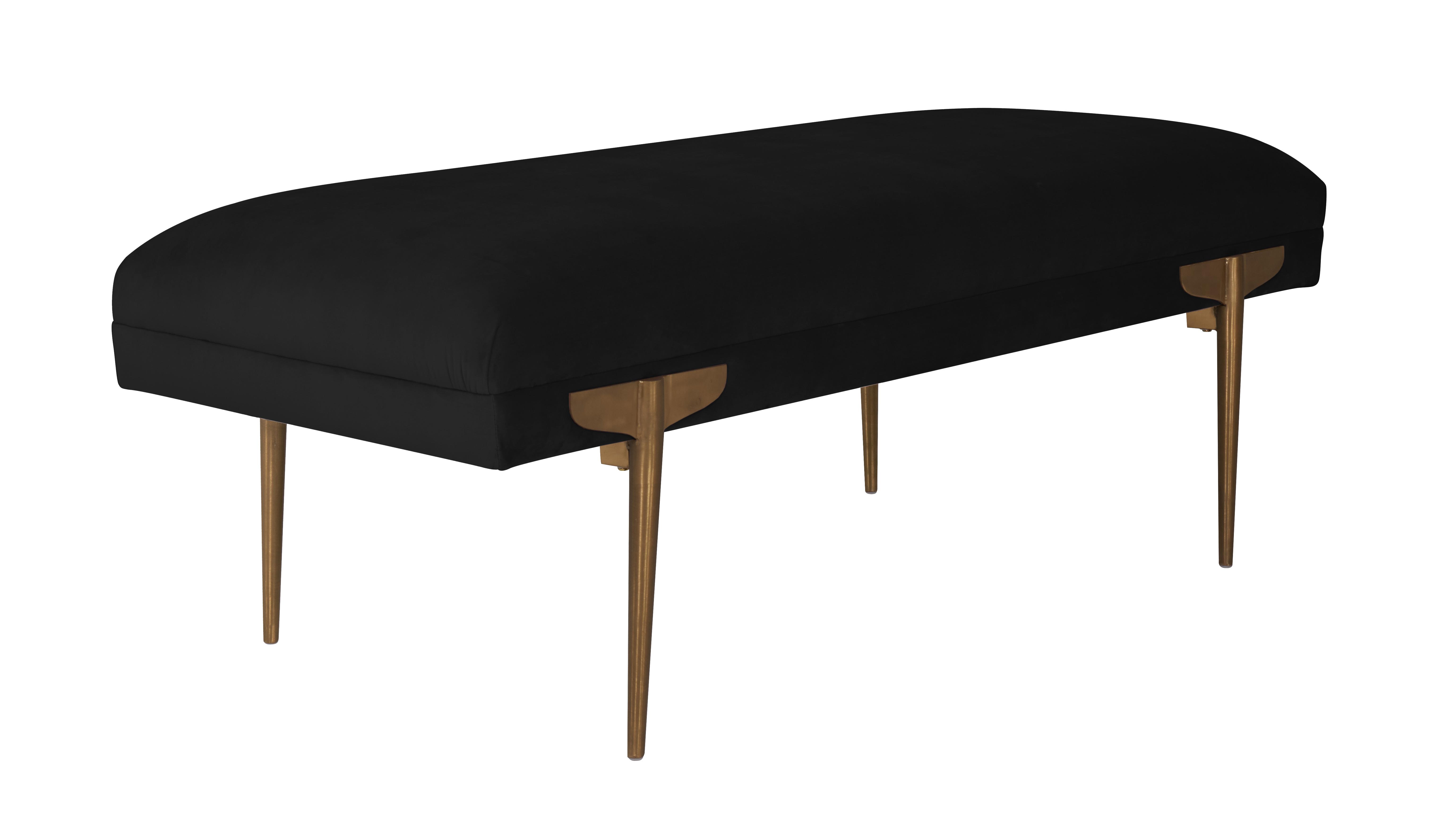 Brno Black Velvet Bench Tov Furniture
