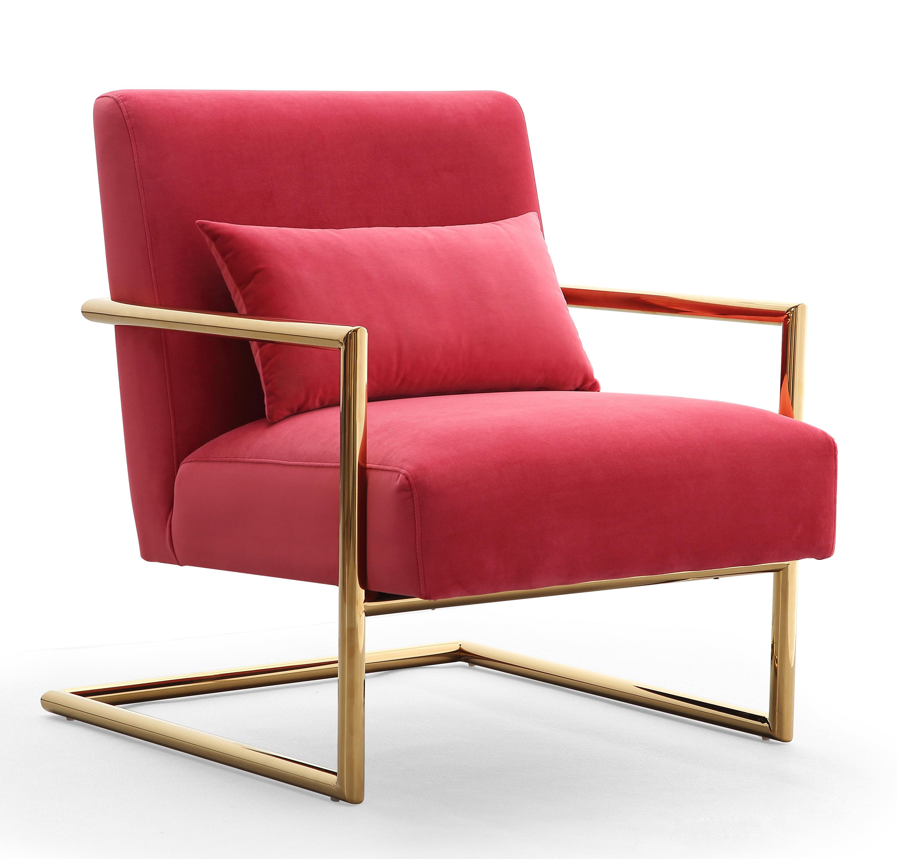 Picture of: Elle Pink Velvet Chair Tov Furniture