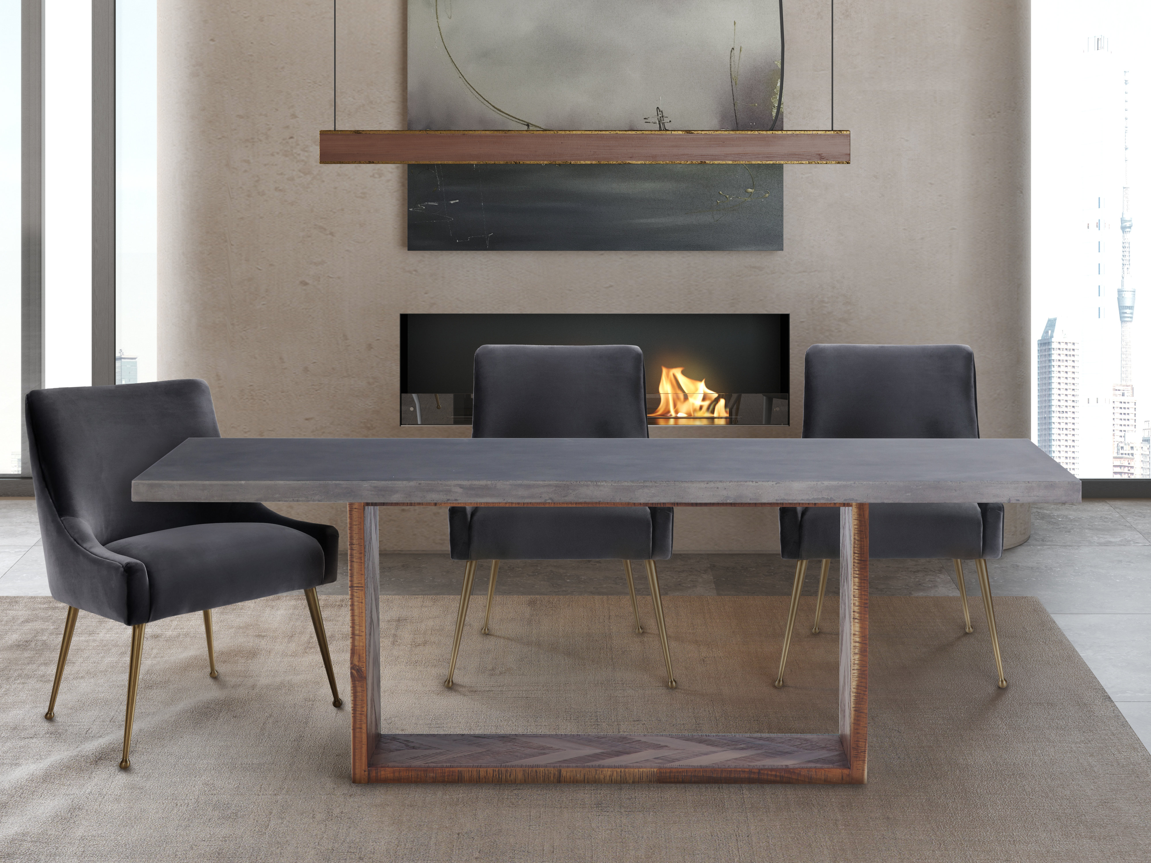 Wyckoff Mixed Dining Table Tov Furniture