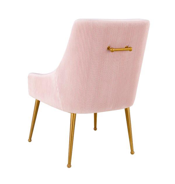 Beatrix Pleated Blush Velvet Side Chair