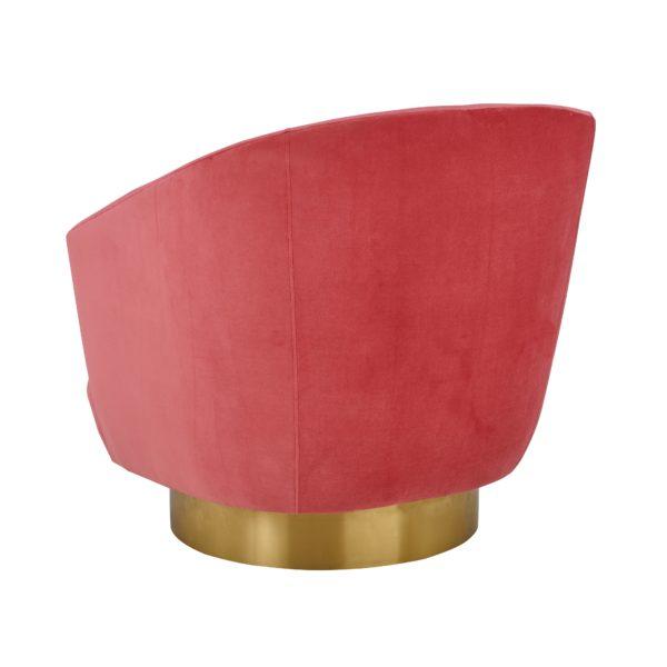Canyon Hot Pink Velvet Swivel Chair