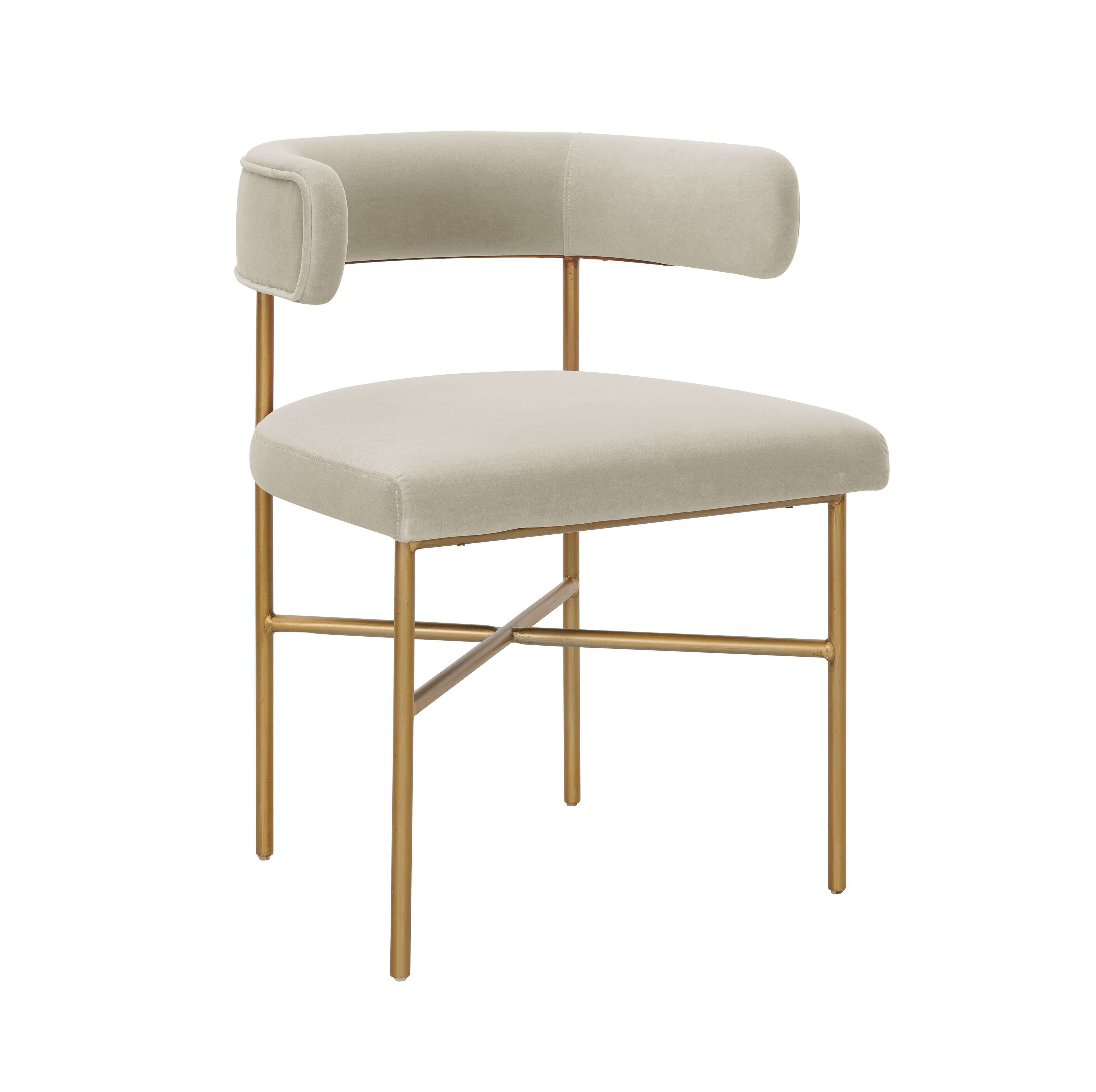 Kim Performance Velvet Chair In Cream Tov Furniture