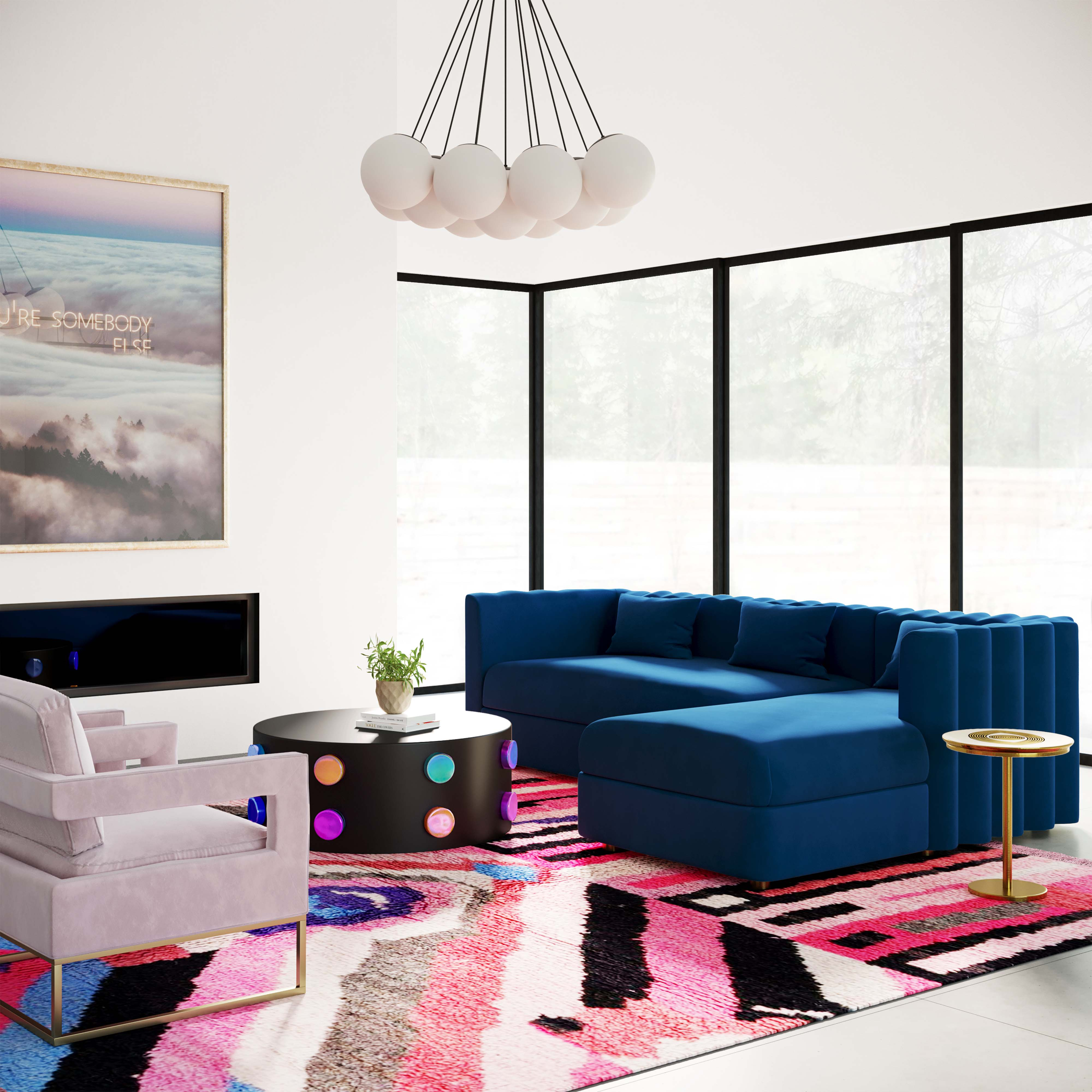 Callie Sectional Navy