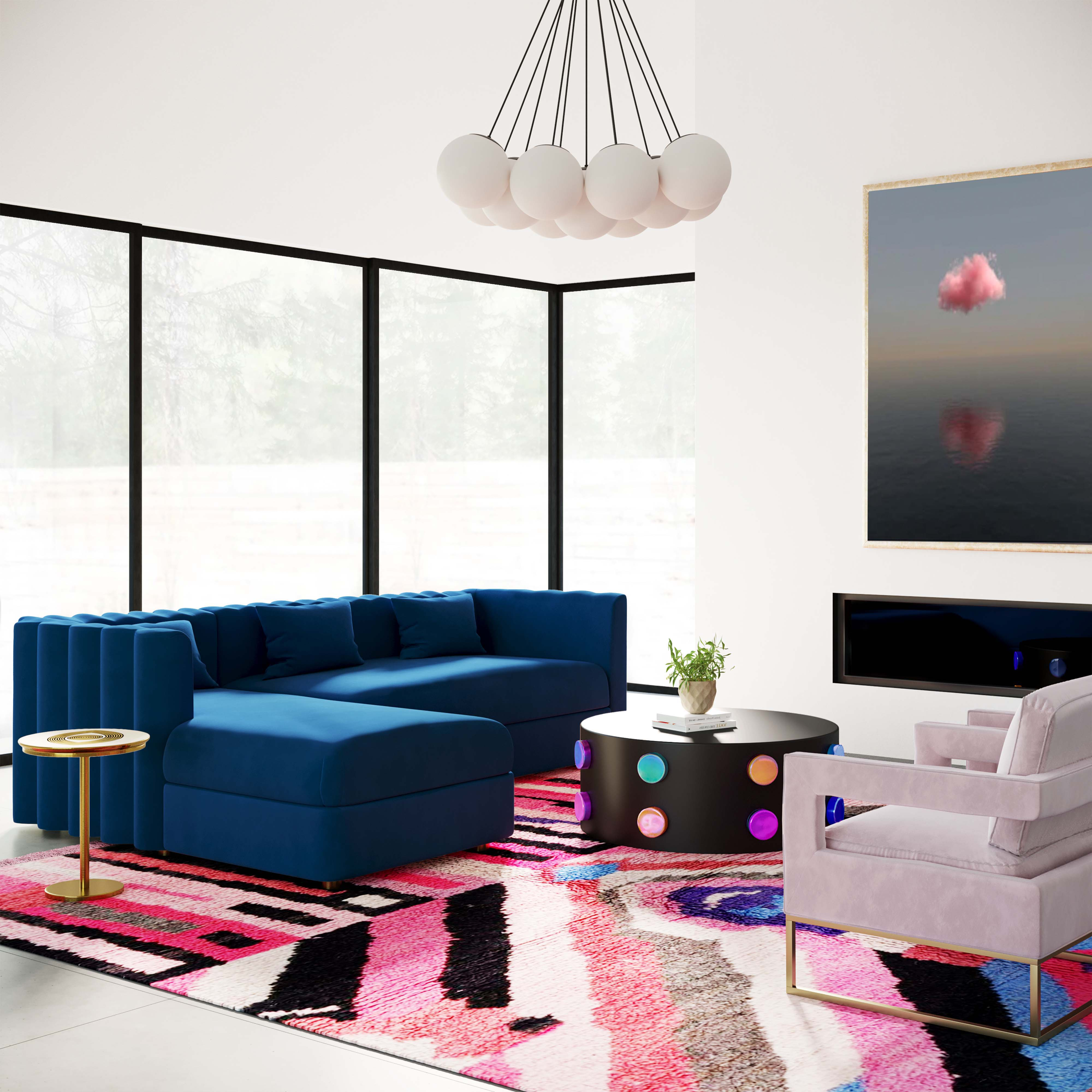 Callie Sectional Navy LAF
