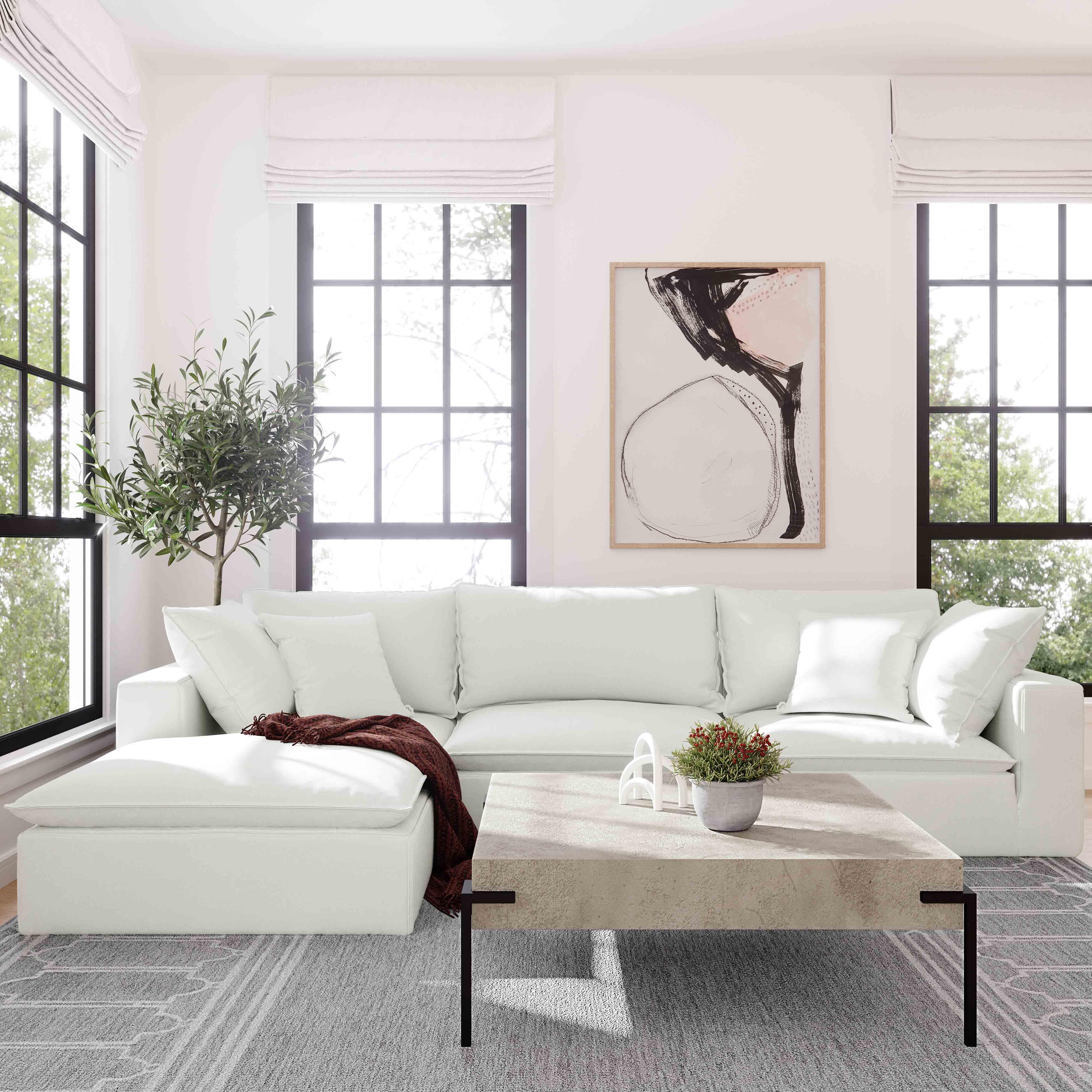 Cali Modular Sofa Pearl Tweed 1